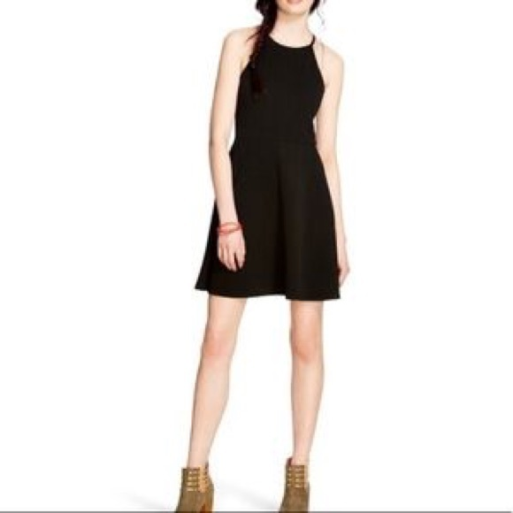 f247dc7e4855 Mossimo Supply Co. Dresses | Mossimo Black Halter Skater Dress Sz Xl ...
